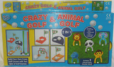 NEW TOY CRAZY GOLF AND ANIMAL GOLF CHILDREN'S GARDEN PLAY SET PADG 8389