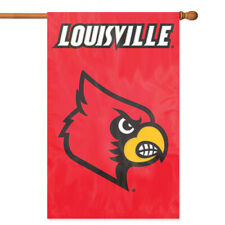 Louisville Cardinals House Banner Flag PREMIUM Outdoor DOUBLE SIDED Embroidered