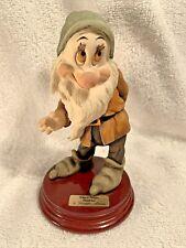 BASHFUL 1994 Disney Signed GIUSEPPE ARMANI Italy Figurine Statue 0916C Mint Rare