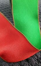 Ribbon with wire edge. Red one side Green the other. 3 metresx1.5 ins. Christmas