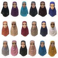 One Piece Hijab stretch pull on ready Amira Jilbab Abaya Scarf Headscarf islamic