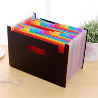 13/24 Pocket A4 Office Expanding File Box Folder Case Document Bag Organiser New