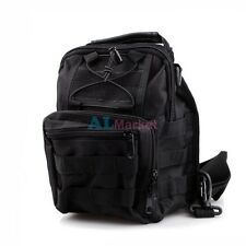 Black 1000D Molle Tactical Utility 3 Ways Shoulder Bag Pouch Backpack