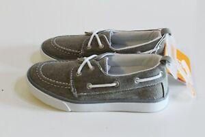Gymboree Boy Canvas Sneaker Boat Shoes Kid Size 13 Gray
