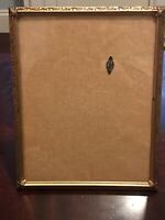 Vintage 24K Gold Plated Ornate Picture Frame - 8x10 with Oval Overlay Victorian