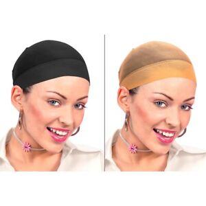 2 Stück Haarnetze / Haarstrumpf Haarschutz Kopfnetz Perücken Zubehör / Farbwahl