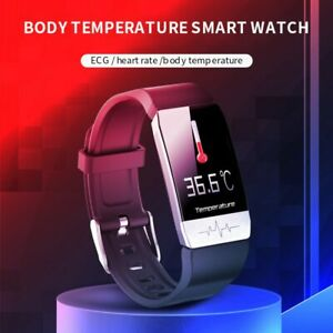 Smart Watch Cov19 Thermometer Health Activity Fitness  Sleep Tracker Heart Rate