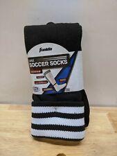 Franklin Sports Acd Black/White Polyester Size Large Soccer Socks