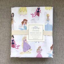 Pottery barn Kids Disney Princess Twin Sheet Set pink lavender blue