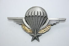 FRENCH FOREIGN LEGION 2ND REP & ARMY METAL PARACHUTE WING BADGE CURRENT ISSUE