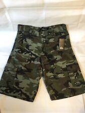 NWT Quicksilver Camo Cargo Shorts Mens's~Teen~Youth Boys Size 27