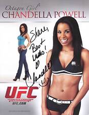 CHANDELLA POWELL UFC OCTAGON GIRL SIGNED PHOTO AUTOGRAPH ULTIMATE FIGHTING