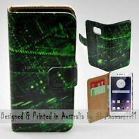 For OPPO Series - Matrix Abstract Theme Print Wallet Mobile Phone Case Cover