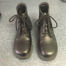 STRIDE RITE Ankle Boots BLACK LEATHER Youth Size 2 Lace Up