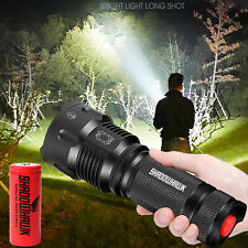 Super-bright 80000LM  Flashlight USB LED Shadowhawk Tactical Torch 26650 battery