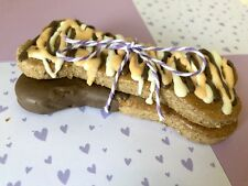 Homemade Fresh Peanut Butter, Banana & Chocolate Large Dog Biscuits Treats x2
