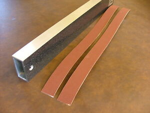 """10 self adhesive Sandpaper Strips for 16"""" Levelling Beam (240 grit)"""