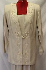 Pride & Joy Size 8 Tan/Beige Pant Suit/Mother/Grandmother of the Bride/Formal