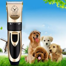 Professional Electric Mute Pet Dog Fur Hair Cordless Trimmer Clipper Shaver Kit