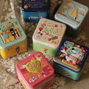 Exquisite 3D Relief Cartoon Tin Box Jewelry Holder Box Wedding Gift Candy Ca*BI