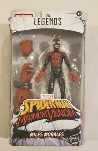 MILES MORALES VENOMIZED Marvel Legends Venom Venompool BAF *Damaged Box*