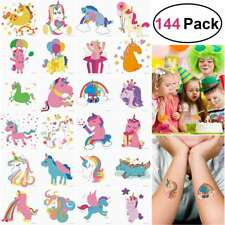Unicorn Tattoo Sticker Cartoon Cute Kids Animal Party Temporary Tattoo Sticker