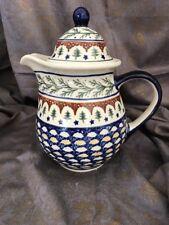 Polish Pottery Boleslawiec Evergreen Tea Pot