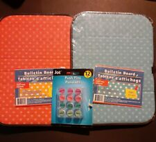 "Fabric Bulletin Board Two 8.5"" x 11"" (NEW)"