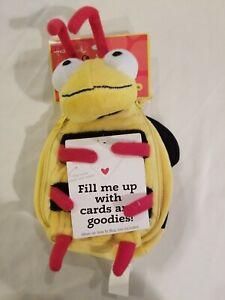 Hallmark Bug em Bumble Bee Zippered Pouch Plush Stuffed Animal Reusable Gift Bag