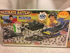 Tim Mee Toys Ultimate Battle 100 pc. Box Set C130 Hercules Copter Tank Army Men