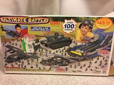 Tim Mee Toys Ultimate Battle 100 pc. Box Set C130 Hercules Copter Tank Army Men