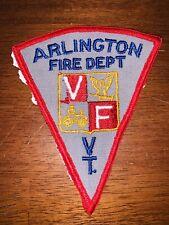 Arlington Vermont Fire Department Patch