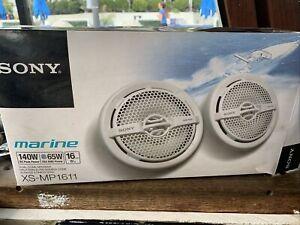 """Sony XS-MP1611 6.5"""" 140 Watt Dual Cone Marine 1 Speaker Only White XSMP1611"""