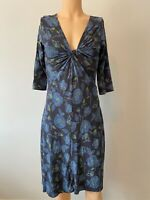 White Stuff Dress UK Size 14 Womens Ladies Blue Green Floral Print Autumn 12