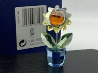 Figurine Swarovski 663148 Fleur / Pot de 5,5 Cm. avec Emballage D'Origine &