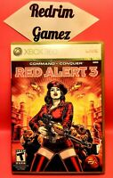 Command & Conquer Red Alert 3 w/Poster XBOX 360 Video Games