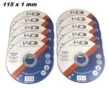 SET 10 DISCHI DA TAGLIO FERRO FINE 1 mm PER SMERIGLIATRICE ANGOLARE FLEX 115 mm