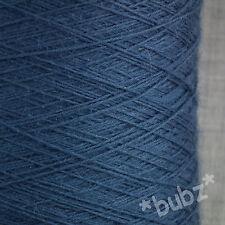 LOVELY SOFT PURE MERINO WOOL 2 PLY 500g CONE MARINE BLUE YARN HAND MACHINE KNIT