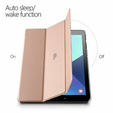 For Galaxy Tab S3 9.7 Case Rose Gold Poetic【Slimline】Slim-Fit Cover Stand Folio