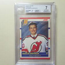 1990-91 SCORE #439 Martin Brodeur rookie card BGS 7NM