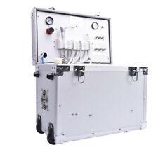 550w Portable Dental Turbine Unit With Built In Air Compressor Triple Syringe 4h