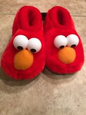 *NEW* Sesame Street Toddler Slippers w/ Elmo Socktop, Sz L 9/10