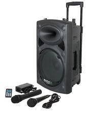 Mobiles Soundsystem IBIZA Port-8 VHF 100W, USB für MP3-/WMA/FM-Wiedergabe, NEU