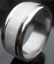Echte Edelmetall-Ringe ohne Steine im Band-Stil aus Edelstahl