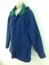 Pen West Pendleton Womens Large Blue Flannel Lined Thinsulate Hooded usa Parka