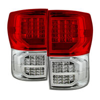 Fit Toyota 07-13 Tundra Red Clear LED Rear Tail Brake Lights Pair Set G2