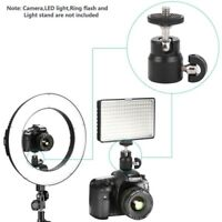 "360 Swivel Mini Ball Head 1/4"" Screw Mount Bracket Holder For DSLR Camera Tripod"