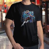 Street Fighter Chun-Li Hyakuretsukyaku Kung Fu Mens Unisex Crew Neck Tee T-Shirt