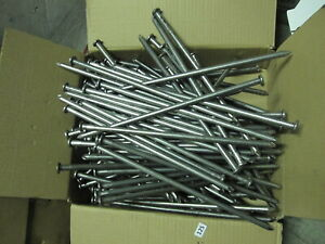 """125 QTY 3/8"""" X 12"""" Bright Smooth Shank SPIKE Nails  Landscape Metal Art"""
