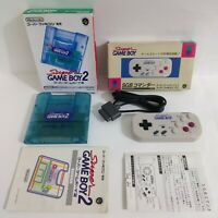Super Famicom Super Game Boy 2 & SGB Commander with boxed Manual SFC game JAPAN